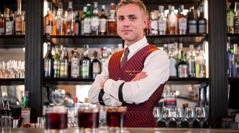 Un drink estivo d'autore – drink FRENCH KISS, di Alessio Giovannesi, bar manager di Baccano a Roma